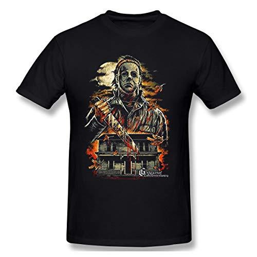 PeacSok Men's Halloween Michael Myers Cool T Shirts Black -