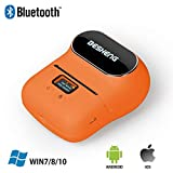 BESHENG M110 Bluetooth Handheld Label Printer, Colorful Designed Mini Portable Smart Label Maker, Direct Thermal Label Writer Compatible for iPhone/iPad/MAC/Android & PC(Orange)
