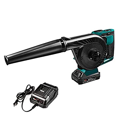 NEU MASTER Compact Jobsite Blower, Cordless Blower Vacuum with 20V MAX 2.0Ah Battery Included and Variable Speed NBL0020
