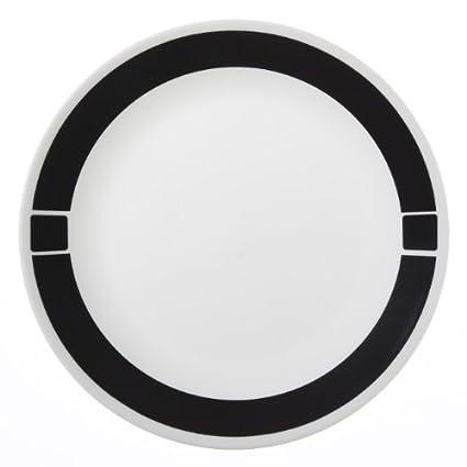 Amazon.com: Corelle Livingware 6-Piece Dinner Plate Set, Urban Black ...