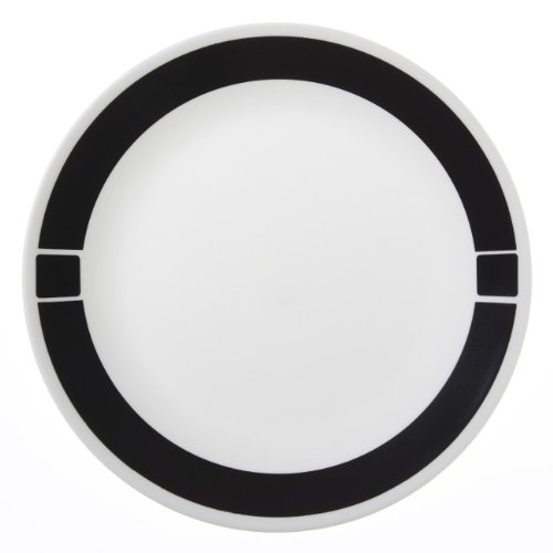 Corelle Livingware 6-Piece Dinner Plate Set, Urban Black