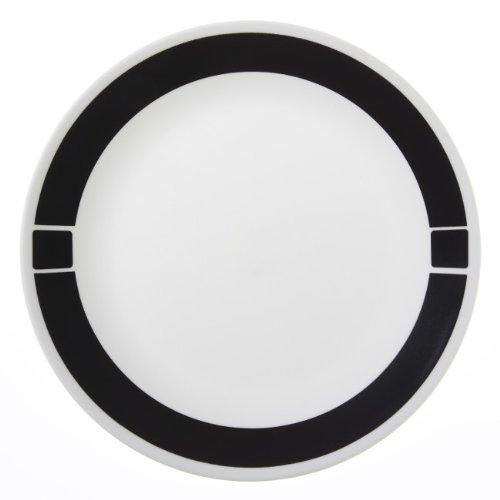 Corelle Livingware 6-Piece Dinner Plate Set, Urban Black (Juego De Platos De Cocina)