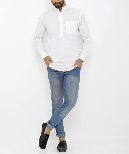 Nick&jess Camisa de algodón Kurta de tres botones de licra ...