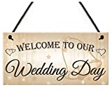 Plaques Signs - Welcome To Our Wedding Day Hanging Decor Plaque Guest Entrance Greeting Sign - Wc Plaque Plaques Meijiafei Wedding Funny Sign Sticker Vintage No Decor Party Decor Sign Poster B