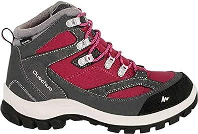 cfb4ba7786d QUECHUA FORCLAZ 100 HIGH Women's Waterproof Walking Boots - Pink