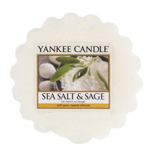 Yankee Candle Sea Salt and Sage Wax Tart Melt, White, 5.7 x 5.7 x 1.7 cm