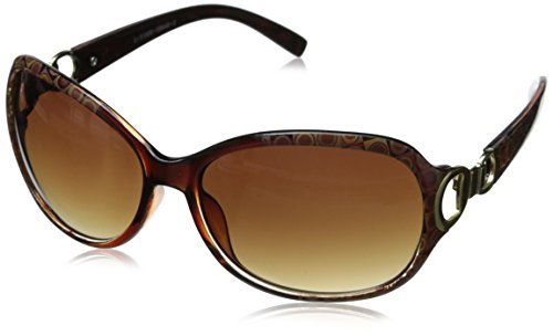 Foster Grant Women's Latte Aviator Sunglasses, Brown, 61 (Latte Shade)