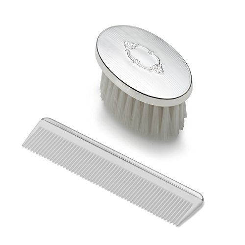 Empire Boys Shield Design Oval Sterling Brush