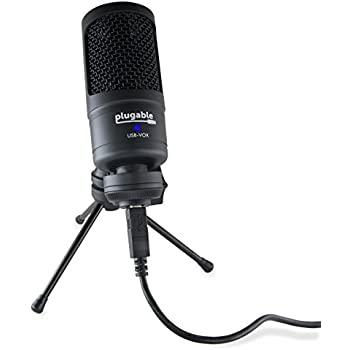 plugable usb microphone cardioid condenser windows os x linux compatible. Black Bedroom Furniture Sets. Home Design Ideas