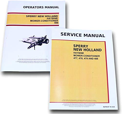 Set New Holland 488 Haybine Mower-Conditioner Service Operators Owners Manual