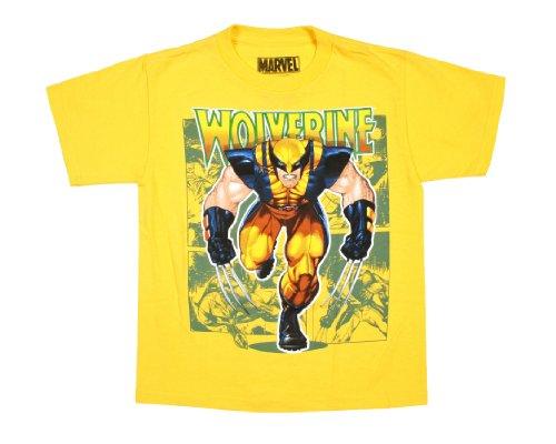 Marvel Comics Wolverine X-Men Licensed Graphic T-Shirt (Yellow, XX-Large)