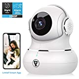 Indoor Security Camera, Littlelf Smart 1080P Wireless Home WiFi IP Pet Camera for Baby/Elder/Nanny Monitor with Motion Tracking, 2-Way Audio, Night Vision and Cloud Service