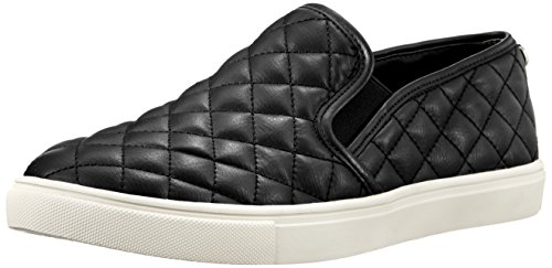 Steve Madden Women's Ecentrcq Slip-On Fashion Sneaker,Black,10 M US