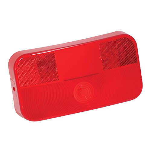 Bargman 34-92-708 Surface Mount Taillight #92 - Replacement Lens w/ License (Bargman Tail Light Lens)