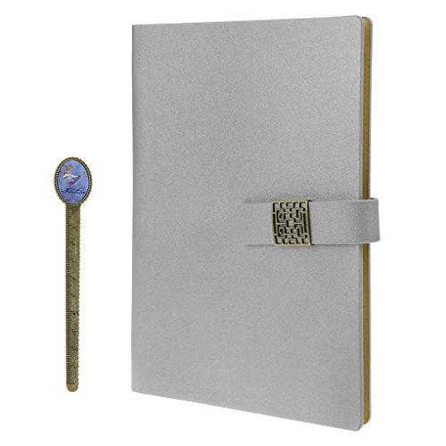 Notebook, A5 Faux Leather Journal, Business Office Notebook with Magnetic Clasp, Loose Leaf Wirebound Notebook with Spiral, Refillable Travel Notepad, College Ruled Paper, 192 Pages, 6.9x9.1 inches (Jotter Personalized Pad)