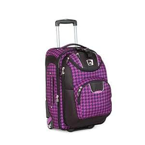 High Sierra At Series Luggage, Purple Houndstooth/Blk
