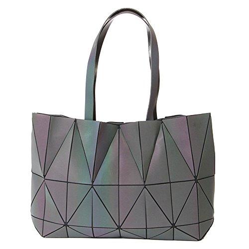 KAISIBO Unique Design Geometric Lattice Handbag Totes Purses Women(K3138) (Luminous)