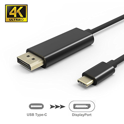 SIDAWOO USB C to DisplayPort Adapter Cable(5.9ft/1.8m), (4K@60Hz)USB Type C(Thunderbolt 3 Compatible) to DP Cable for 2017 iMac,2017/2016 MacBook Pro,MacBook 12'',Galaxy Note 8/S8/S8 Plus,HTC U11 by SIDAWOO