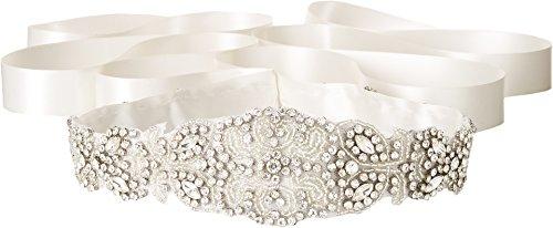 Nina Women's Satin/Crystal & Beaded Satin Ivory One Size by Nina