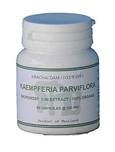 Tongkatali.org's Kaempferia parviflora Extract 1:60 60 Capsules 500 mg