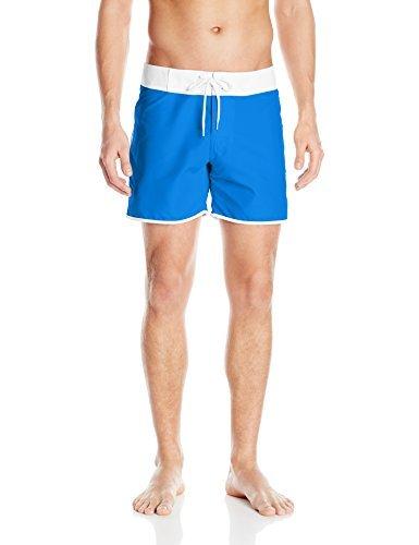 Vintage Men's Swimsuits – 1930s to 1970s History Sauvage Mens Slim Fit Promenade Swim Short $66.20 AT vintagedancer.com