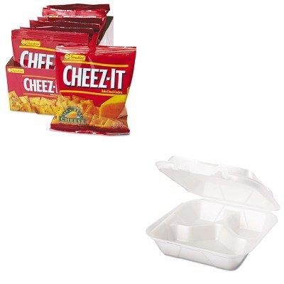 - Value Kit - Genpak Snap It Foam Container (GPKSN243) and Kellogg's Cheez-It Crackers (KEB12233) (Kelloggs Snap)