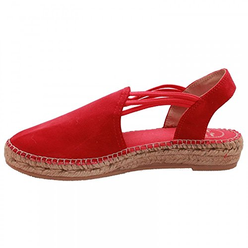 Toni Pons Casual Slip on Espadrille Sandal Red Suede