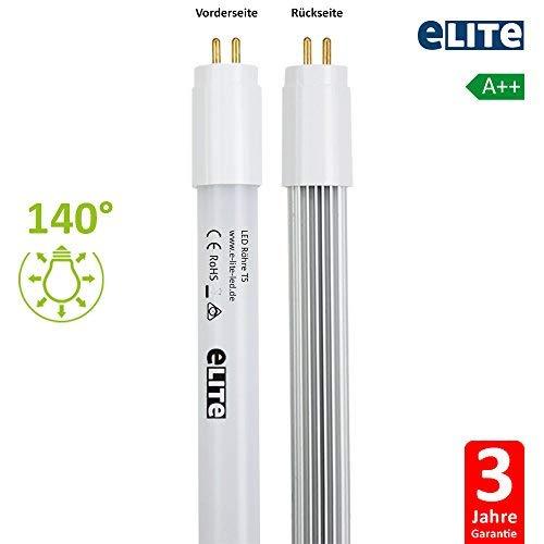 Warmwei/ß Lichtleiste Lampe R/öhre Tube Wei/ß B/ürolampe Deckenleuchte 2x LED Leuchtstoffr/öhre T5 G5 Sockel 60cm 8W 4000K