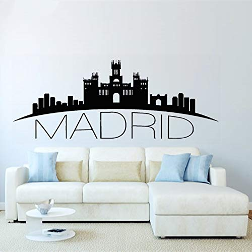 Crjzty España Madrid Skyline Tatuajes de Pared Silueta de la ...