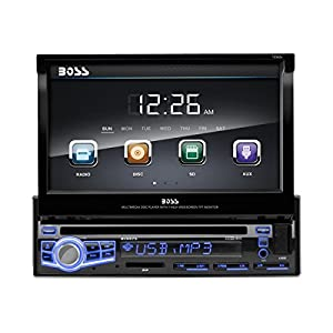 BOSS AUDIO BV9973 Single-DIN 7 inch Motorized Touchscreen DVD Player Receiver, Wireless Remote (Discontinued by Manufacturer)