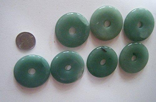 35mm Donut Gemstone Pendant - Pendant, Imperfect Green Aventurine 35mm Gemstone Donut - 1pc