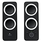 Logitech Multimedia Speakers Z200 with Stereo Sound for Multiple Devices - Black (Renewed)