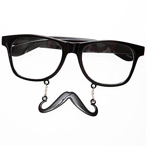 Black Handlebar Clear - Sunglasses Black Mustache Handlebar
