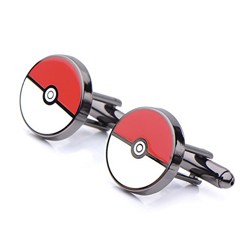 Men's Stainless Steel Black PVD Plated Pokemon Pokeball - Pokemon Link