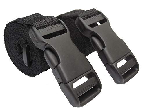 BuckleGear Molle Accessory Straps (Black)