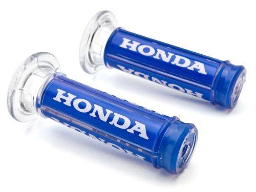Krator XH4065HB Hand Grips (Honda Motorcycle Street Bike Racing Blue Comfort Gel (7/8