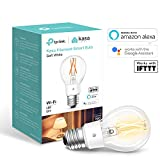 TP-Link Smart Bulb, WiFi Filament Light Bulb, E27, 7W, Works with Amazon Alexa (Echo and Echo Dot), Google Home and IFTTT, Dimmable Soft Warm White, No Hub Required [Energy Class A++]