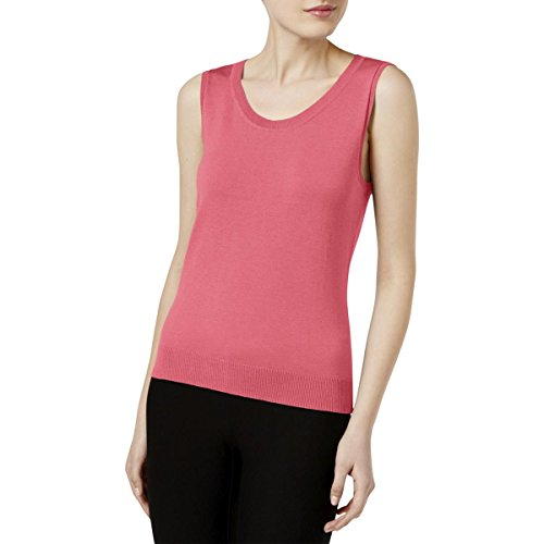 August Silk Womens Scoop Neck Knit Sweater Vest Pink XS (Neck Scoop Sweater Vest)