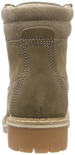 21 25242 Boots Combat Brown 341 Tamaris taupe Women's EqnzxRW5