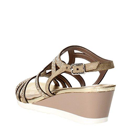 Zeppetta 5436 Sandalo Grigio Taupe Shoes Bracciale Donna Chiavi Strass wX6OqxdO