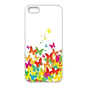 The Colorful Butterfly Hight Quality Plastic Case for Iphone 5s