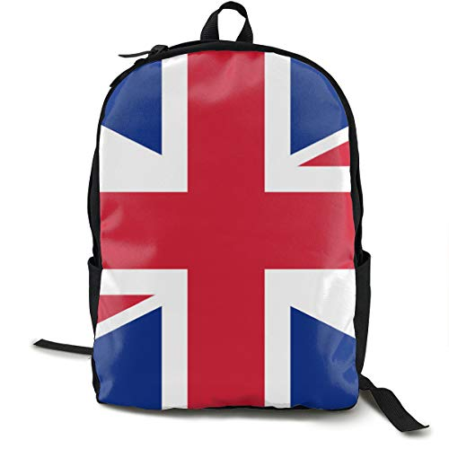 Casual College School Daypack, Big Capacity Backpck for School Outdoors Running, Union Jack Flag Travel and Sport Backpack Rucksack for Men Women Girls Boys