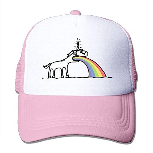 (Waldeal Rainbow Unicorn Cotton Hats Trucker Snapback Cap for Outdoor Sports Pink)