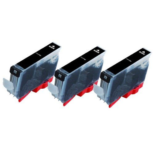 Inkjetcorner 3 Pack Grey Compatible Ink Cartridge for Canon CLI-221GY Canon Pixma MP980 MP990