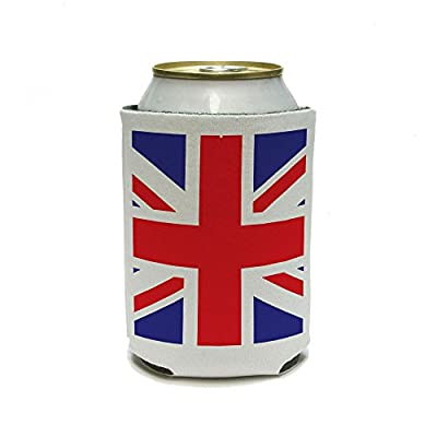 Great Britain England British Flag International Can Cooler - Drink Insulator - Beverage Insulated Holder