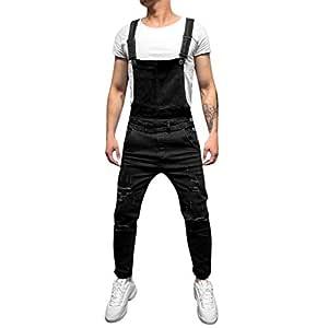Amazon Com Wenini Men S Overall Casual Jumpsuit Jeans Fanshion