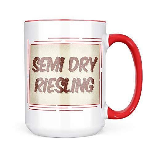 Semi Riesling Dry Wine - Neonblond Custom Coffee Mug Semi Dry Riesling Wine, Vintage style 15oz Personalized Name