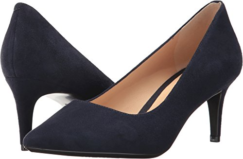 41%2BY8hN-lGL Nine West Women's SOHO9 X 9 Suede, Navy Suede, 9 M US