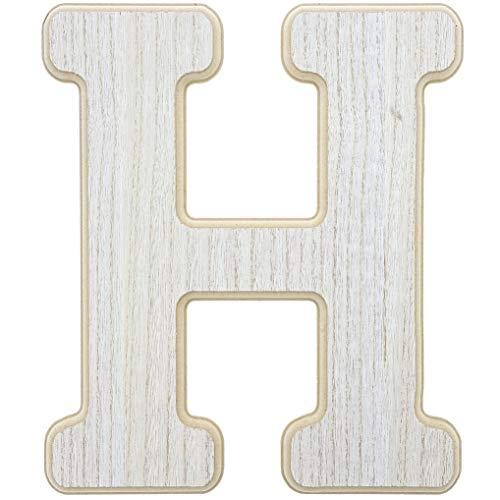 Unfinished Wood Letter H Cutout for DIY Painting, Crafts, and Wall Decor, 10 x .5 x 12 ()