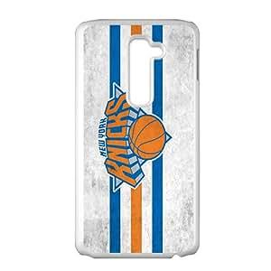 New York Knicks NBA White Phone Case for LG G2 Case